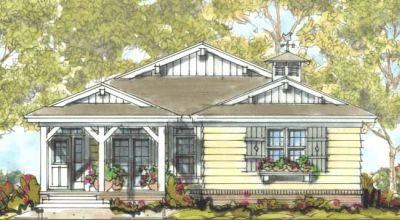 Ranch Style Home Design Plan: 10-1313