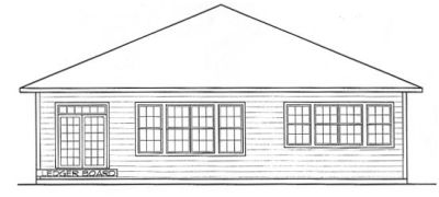 Rear Elevation Plan: 10-1313