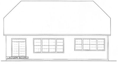 Rear Elevation Plan: 10-1315