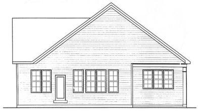 Rear Elevation Plan: 10-1317