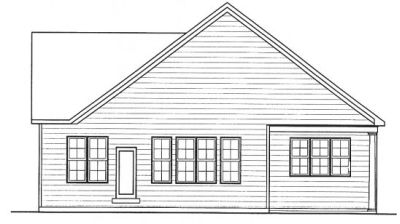 Rear Elevation Plan: 10-1318