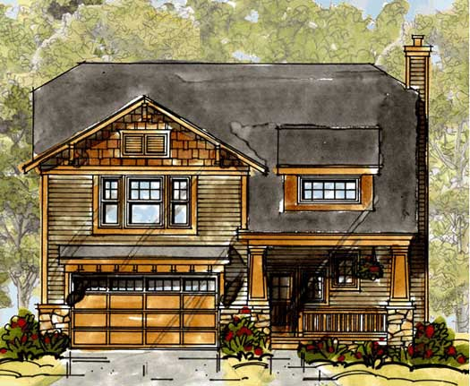 Craftsman Style Floor Plans Plan: 10-1322