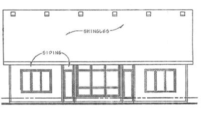 Rear Elevation Plan: 10-1323