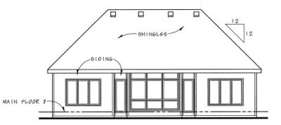 Rear Elevation Plan: 10-1325
