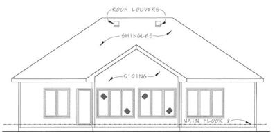 Rear Elevation Plan: 10-1327