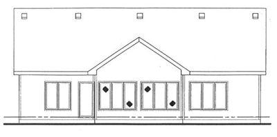 Rear Elevation Plan: 10-1329