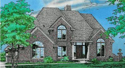 European Style Home Design Plan: 10-133