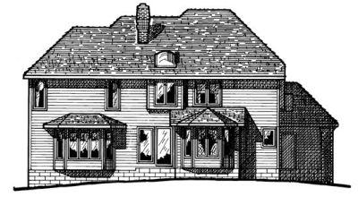 Rear Elevation Plan: 10-133