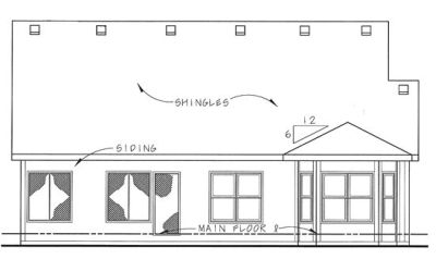 Rear Elevation Plan: 10-1330