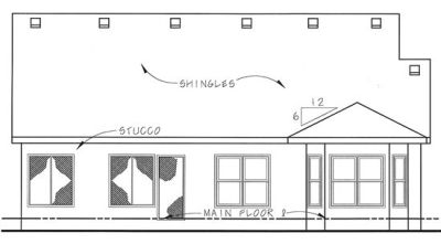 Rear Elevation Plan: 10-1331