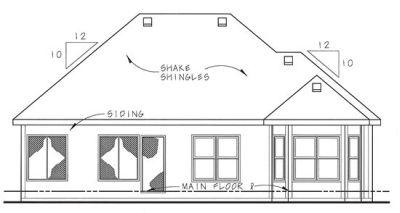 Rear Elevation Plan: 10-1332