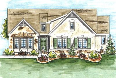French-country Style Floor Plans Plan: 10-1333