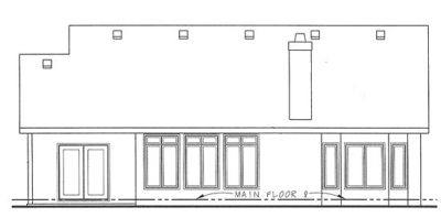 Rear Elevation Plan: 10-1333
