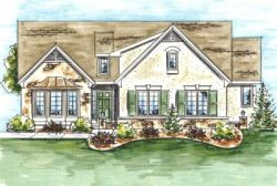 French-Country Style Home Design Plan: 10-1333