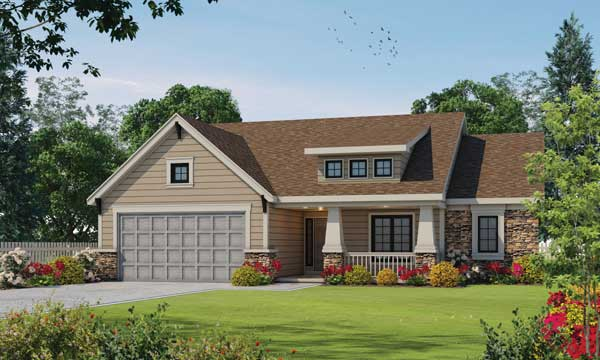 Craftsman Style House Plans Plan: 10-1336