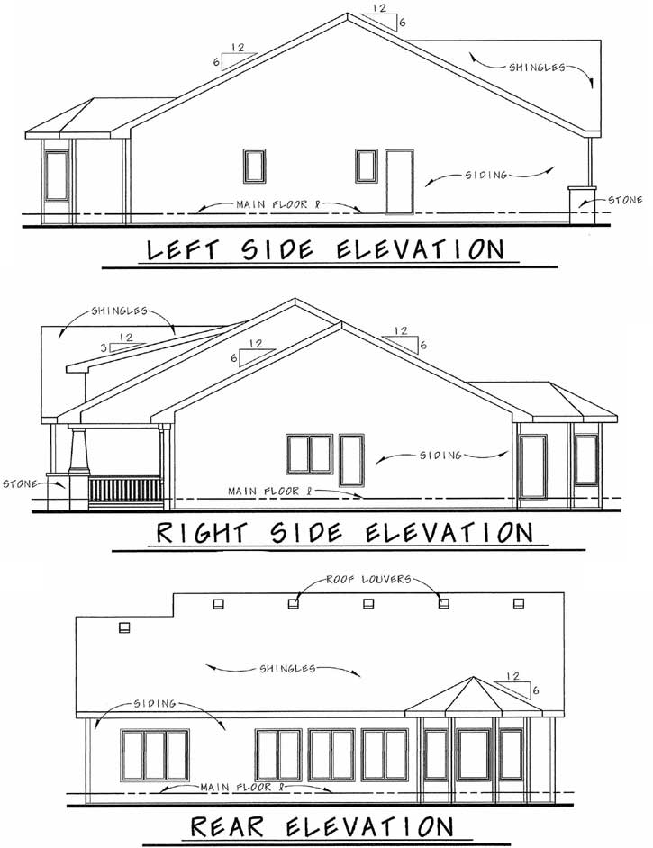 Rear Elevation Plan: 10-1336