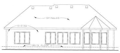Rear Elevation Plan: 10-1337