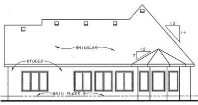 Rear Elevation Plan: 10-1338