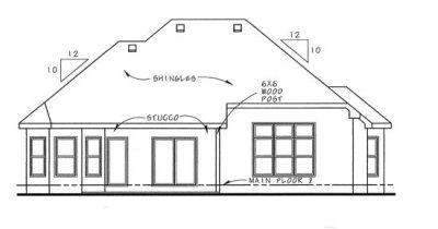 Rear Elevation Plan: 10-1340