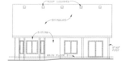 Rear Elevation Plan: 10-1342