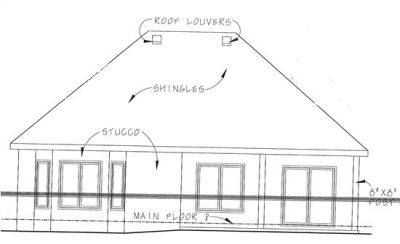 Rear Elevation Plan: 10-1343
