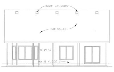 Rear Elevations Plan:10-1344