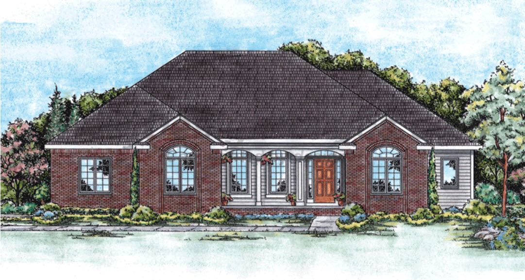 Traditional Style Floor Plans Plan: 10-1348