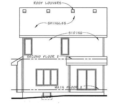 Rear Elevation Plan: 10-1349