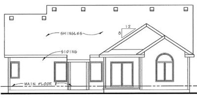 Rear Elevations Plan:10-1351