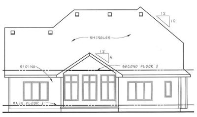 Rear Elevations Plan:10-1353