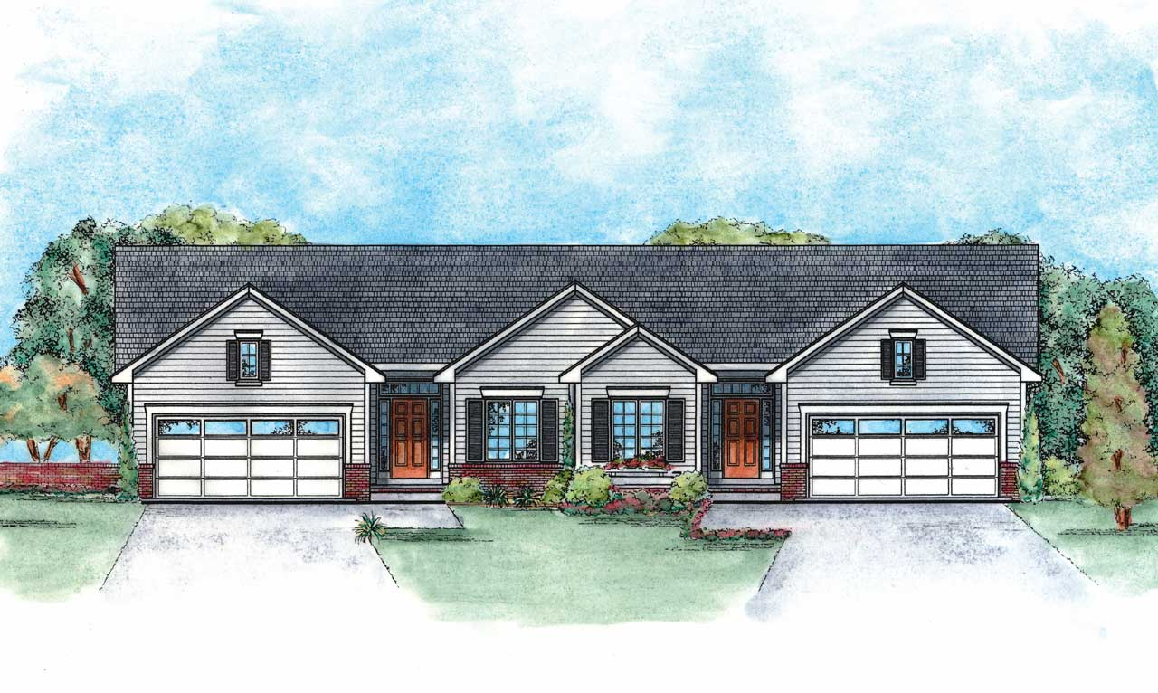 Traditional Style Home Design Plan: 10-1354
