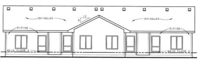Rear Elevation Plan: 10-1354