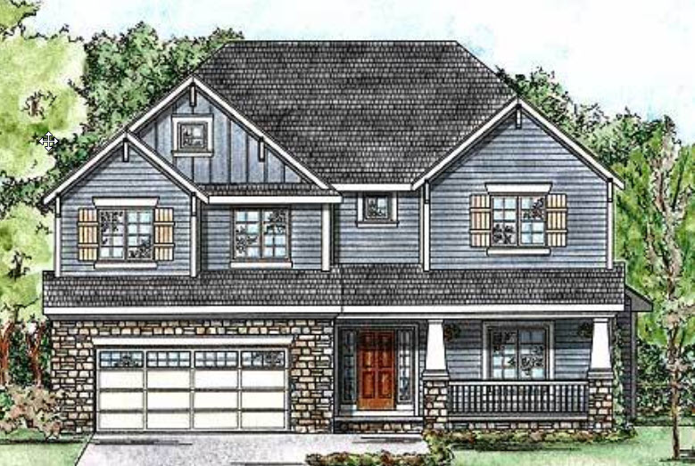 Craftsman Style House Plans Plan: 10-1355