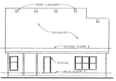 Rear Elevation Plan: 10-1356
