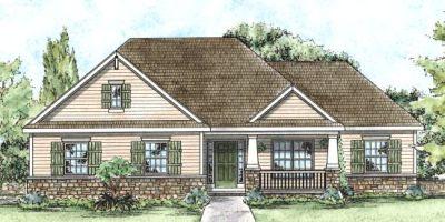 Craftsman Style Home Design Plan: 10-1359