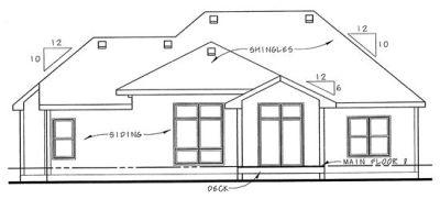 Rear Elevation Plan: 10-1359