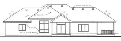 Rear Elevation Plan: 10-1360