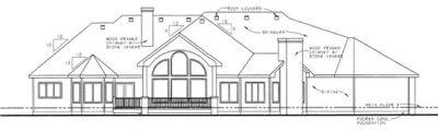 Rear Elevation Plan: 10-1361