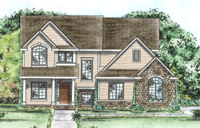 French-country Style Floor Plans Plan: 10-1363