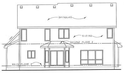 Rear Elevation Plan: 10-1363