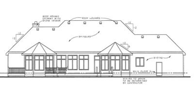 Rear Elevation Plan: 10-1365