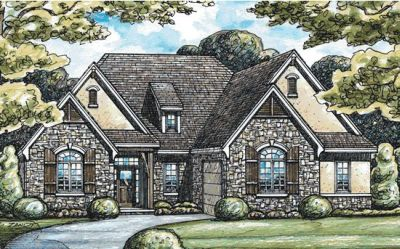 French-country Style Floor Plans Plan: 10-1366