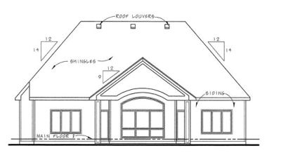 Rear Elevation Plan: 10-1366