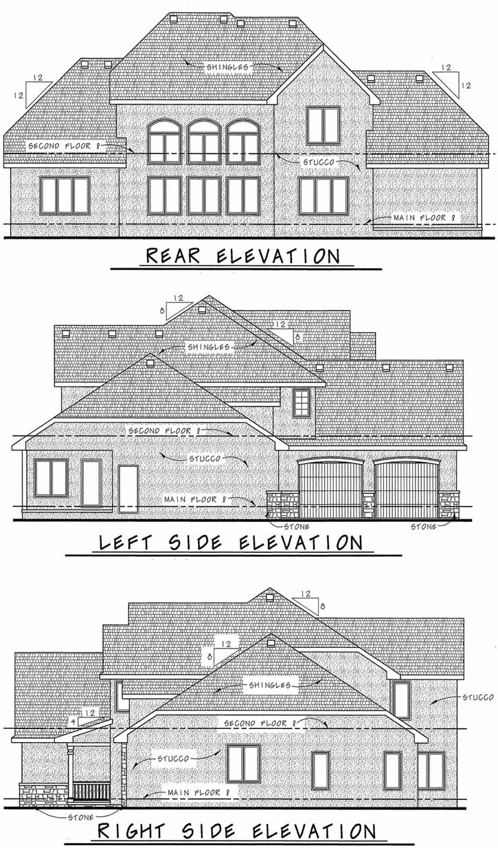 Rear Elevations Plan:10-1367