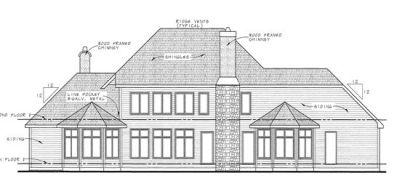 Rear Elevation Plan: 10-1368