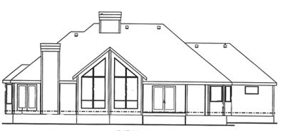 Rear Elevation Plan: 10-1370