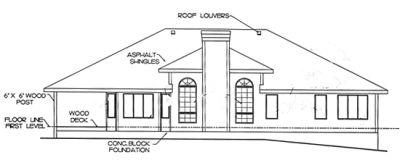 Rear Elevations Plan:10-1371