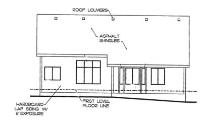 Rear Elevation Plan: 10-1372