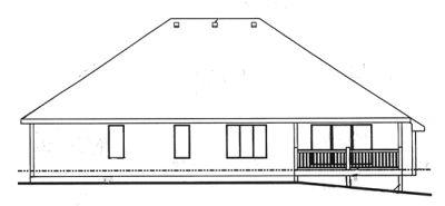 Rear Elevation Plan: 10-1376