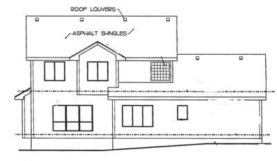 Rear Elevation Plan: 10-1378